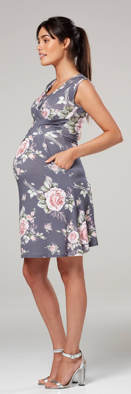 Zeta-Ville-Women-039-s-Maternity-Nursing-A-line-Dress-Pockets-Sleeveless-500c thumbnail 121