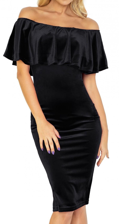 9db49779daf9e Zeta Ville - Women s Body Off-shoulder Dress Double-Layer Design Elastic -  044z