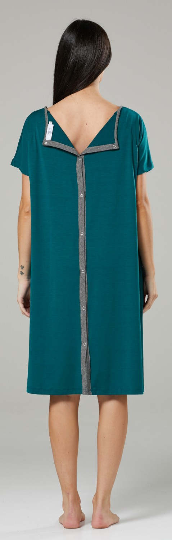 Zeta-Ville-Women-039-s-Maternity-Nursing-Delivery-Hospital-Gown-Nightshirt-536p thumbnail 23