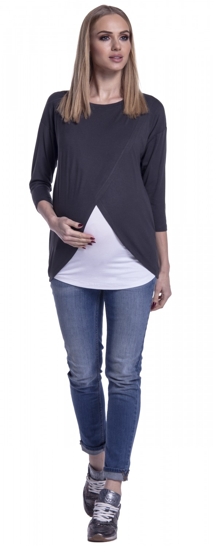 Happy-Mama-Women-039-s-Maternity-Nursing-Wrap-Top-3-4-Sleeves-Double-Layer-446p thumbnail 20