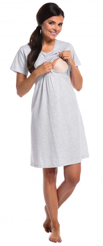 Zeta-Ville-Women-039-s-maternity-breastfeeding-stripes-set-robe-nightdress-190c thumbnail 6