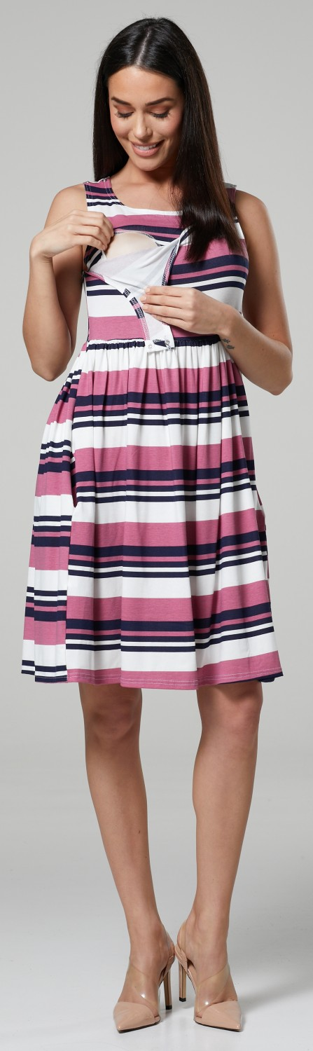 HAPPY-MAMA-Women-039-s-Maternity-Nursing-Pleated-Cocktail-Print-Dress-Sleeveless-103 thumbnail 82