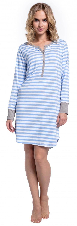 Happy-Mama-Women-039-s-Maternity-Hospital-Nightdress-Nursing-Nightie-Stripes-589p thumbnail 21