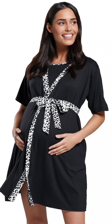 HAPPY MAMA Womens Maternity Nursing Pyjama Set /& Dressing Gown 1137