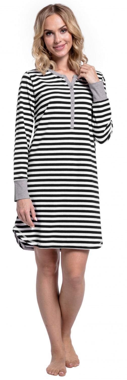 Happy-Mama-Women-039-s-Maternity-Hospital-Nightdress-Nursing-Nightie-Stripes-589p thumbnail 7