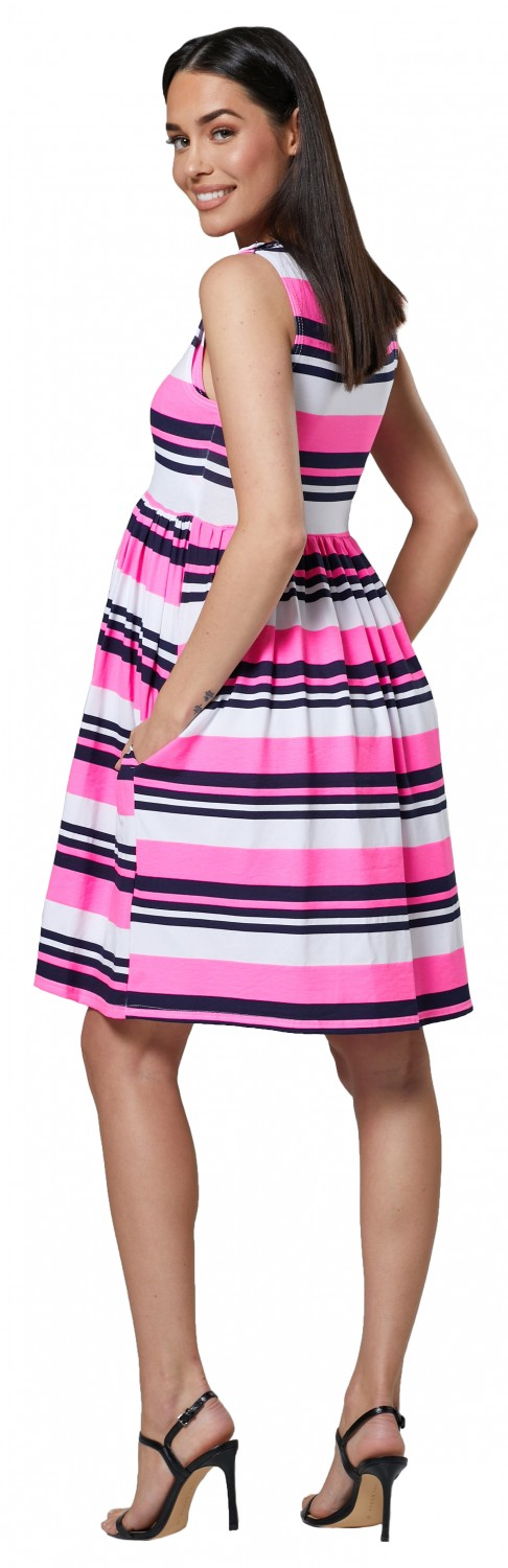 HAPPY-MAMA-Women-039-s-Maternity-Nursing-Pleated-Cocktail-Print-Dress-Sleeveless-103 thumbnail 73