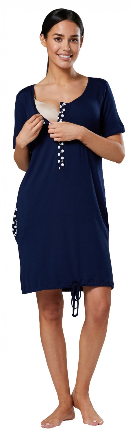 Happy-Mama-Women-039-s-Maternity-Nursing-Delivery-Hospital-Gown-Nightwear-209p thumbnail 17
