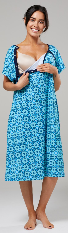 Zeta-Ville-Women-039-s-Maternity-Nursing-Delivery-Hospital-Gown-Nightshirt-536p thumbnail 34