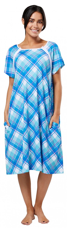 Zeta-Ville-Women-039-s-Maternity-Nursing-Delivery-Hospital-Gown-Nightshirt-536p thumbnail 25
