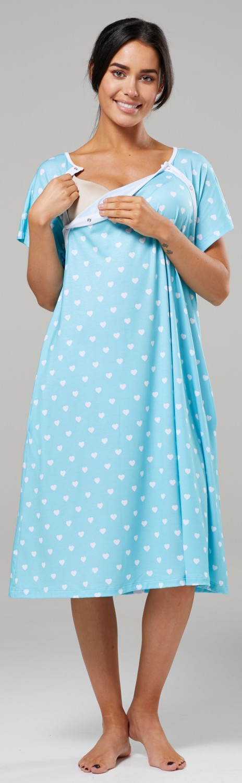 Zeta-Ville-Women-039-s-Maternity-Nursing-Delivery-Hospital-Gown-Nightshirt-536p thumbnail 64