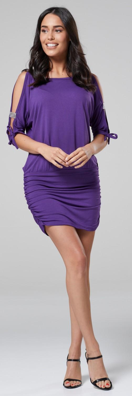 Glamour-Empire-Women-039-s-Open-Sleeve-Stretchy-Jersey-Tunic-Mini-Dress-157 thumbnail 15