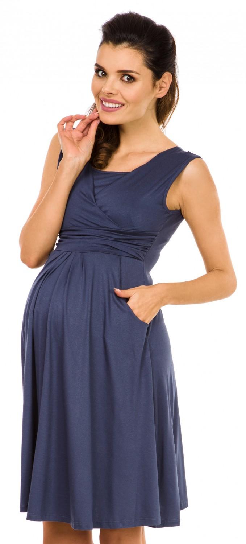 Zeta-Ville-Women-039-s-Maternity-Nursing-A-line-Dress-Pockets-Sleeveless-500c thumbnail 11