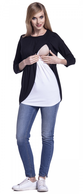Happy-Mama-Women-039-s-Maternity-Nursing-Wrap-Top-3-4-Sleeves-Double-Layer-446p thumbnail 5