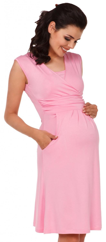 Zeta-Ville-Women-039-s-Maternity-Nursing-A-line-Dress-Pockets-Sleeveless-500c thumbnail 38