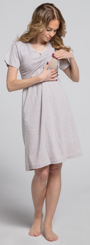 Zeta-Ville-Women-039-s-maternity-breastfeeding-stripes-set-robe-nightdress-190c thumbnail 13