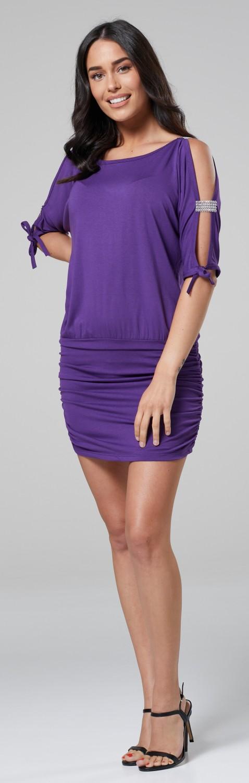 Glamour-Empire-Women-039-s-Open-Sleeve-Stretchy-Jersey-Tunic-Mini-Dress-157 thumbnail 14