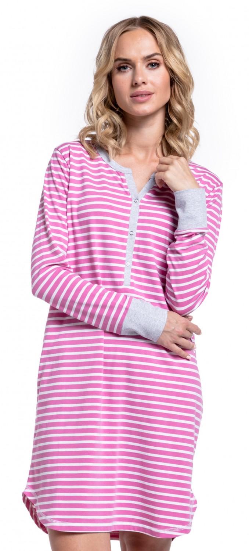 Happy-Mama-Women-039-s-Maternity-Hospital-Nightdress-Nursing-Nightie-Stripes-589p thumbnail 51