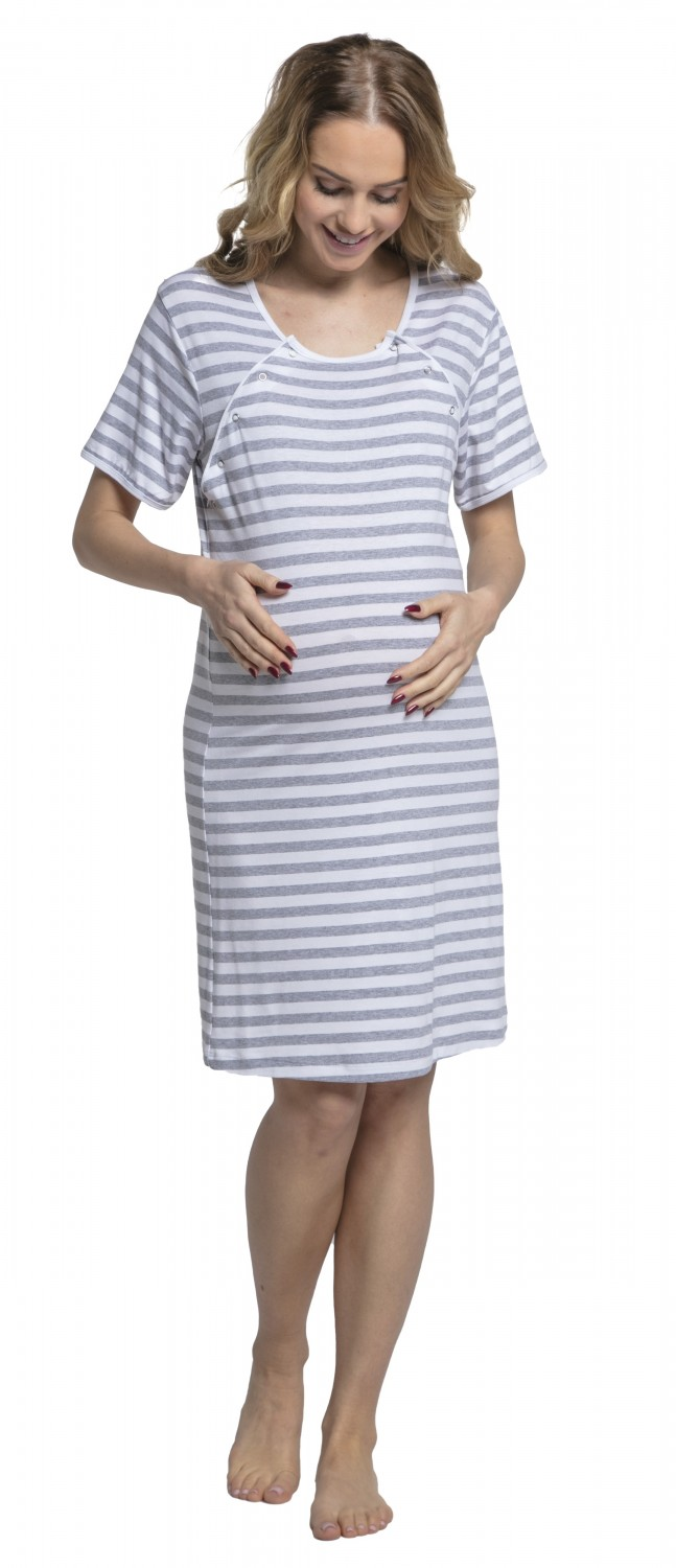Zeta Ville. Women\'s Maternity Hospital Gown Nightie Stripes Labour ...