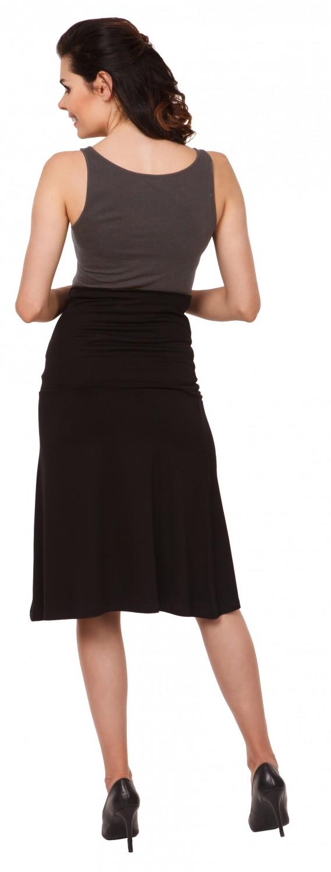 Womens Maternity Knee Length Skater Skirt Stretch Waistband Zeta Ville 983c