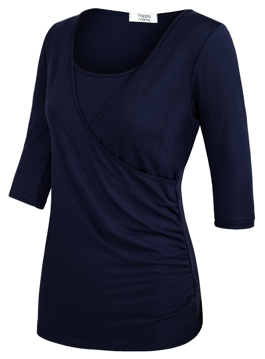 Zeta-Ville-Women-039-s-Maternity-Nursing-Double-Layer-Top-V-Neck-Shirt-160p thumbnail 6