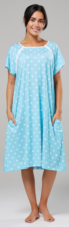 Zeta-Ville-Women-039-s-Maternity-Nursing-Delivery-Hospital-Gown-Nightshirt-536p thumbnail 63