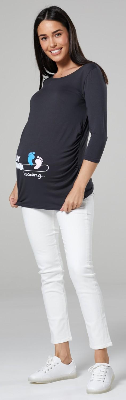 2b1f51c633e1c Zeta Ville Maternity - Women's Pregnancy funny Baby Feet print T ...