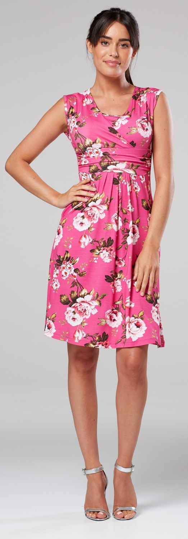 Zeta-Ville-Women-039-s-Maternity-Nursing-A-line-Dress-Pockets-Sleeveless-500c thumbnail 137