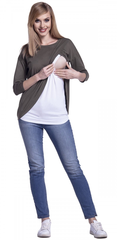 Happy-Mama-Women-039-s-Maternity-Nursing-Wrap-Top-3-4-Sleeves-Double-Layer-446p thumbnail 47