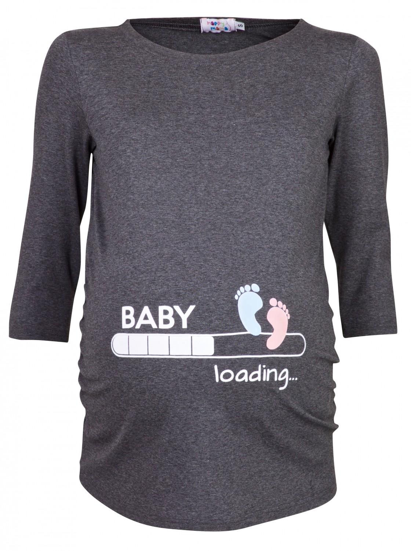 78ce25509 Woman's Maternity Baby Loading Feet Funny Print T-shirt Top. 549p | eBay