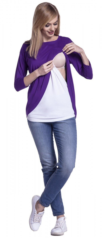 Happy-Mama-Women-039-s-Maternity-Nursing-Wrap-Top-3-4-Sleeves-Double-Layer-446p thumbnail 33