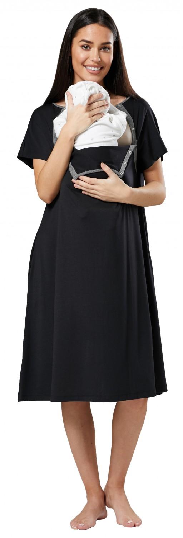 Zeta-Ville-Women-039-s-Maternity-Nursing-Delivery-Hospital-Gown-Nightshirt-536p thumbnail 4