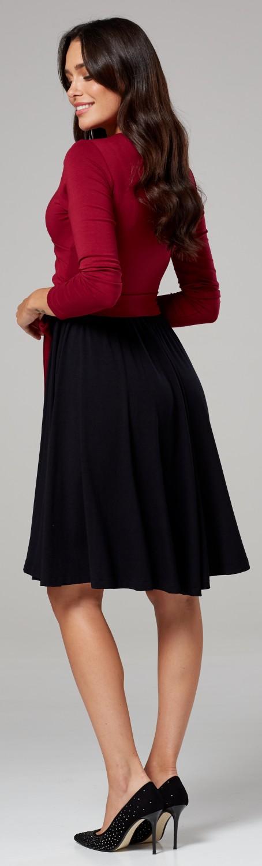 abf6f05f944c3 Zeta Ville Women's Maternity Nursing Pattern Skater Tied Waist Dress ...