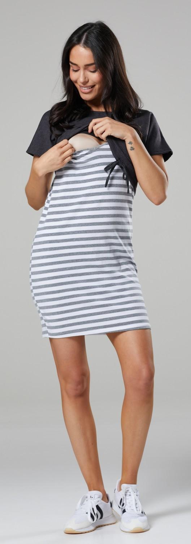 Womens Nursing Two Piece Dress Separate Top Pregnancy HAPPY MAMA 127p
