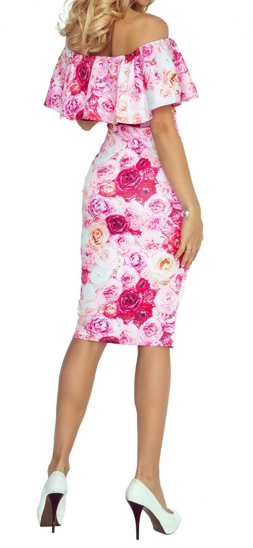 b33102e71ad35 Zeta Ville - Women s Body Off-shoulder Dress Double-Layer Design ...
