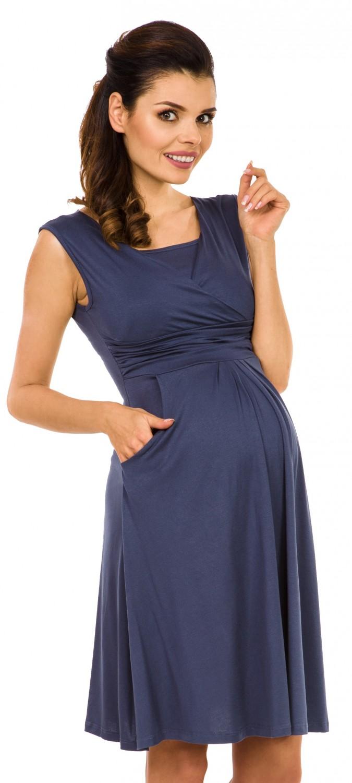 Zeta-Ville-Women-039-s-Maternity-Nursing-A-line-Dress-Pockets-Sleeveless-500c thumbnail 10