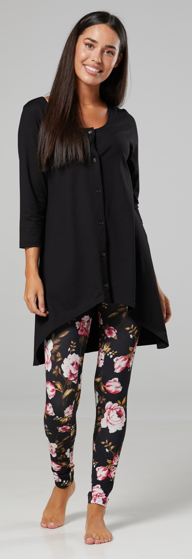Details about  /ZETA VILLE Women/'s Maternity Loungewear Nursing Pyjamas Set Overbump Pants 1189