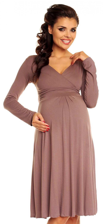e9e6f966ba1e9 Zeta Ville - Women's Maternity Stretch Dress Empire Waist - Long Sleeves -  890c