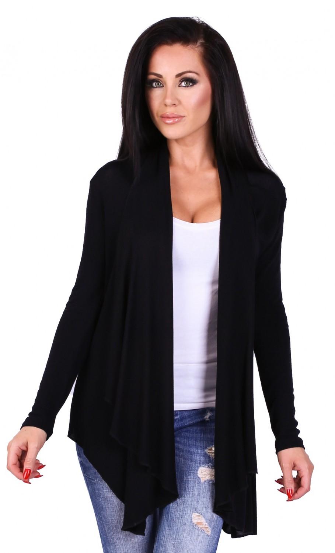 Zeta Ville - Women's Waterfall Thin Knitted Jacket Cardigan Draped ...
