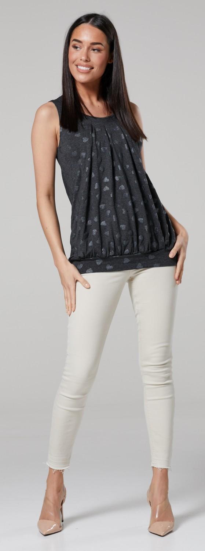 6c843d946e99e Zeta Ville. Women's Maternity T-shirt Nursing Layered Top Sleeveless ...