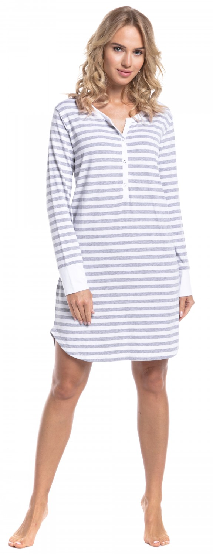 Happy-Mama-Women-039-s-Maternity-Hospital-Nightdress-Nursing-Nightie-Stripes-589p thumbnail 26