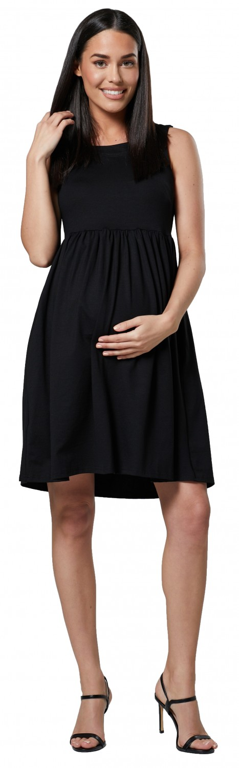 HAPPY-MAMA-Women-039-s-Maternity-Nursing-Pleated-Cocktail-Print-Dress-Sleeveless-103 thumbnail 4