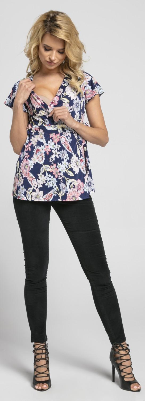 ZETA-Ville-WOMEN-039-S-Maternity-Nursing-Top-Maniche-Corte-Wrap-Front-622p