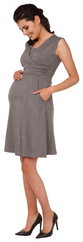 Zeta-Ville-Women-039-s-Maternity-Nursing-A-line-Dress-Pockets-Sleeveless-500c thumbnail 91