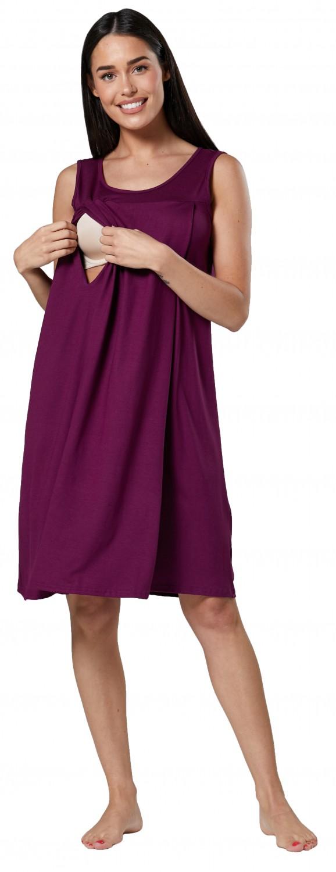 Zeta-Ville-Women-039-s-maternity-nursing-nightdress-breastfeeding-nightie-994c thumbnail 50