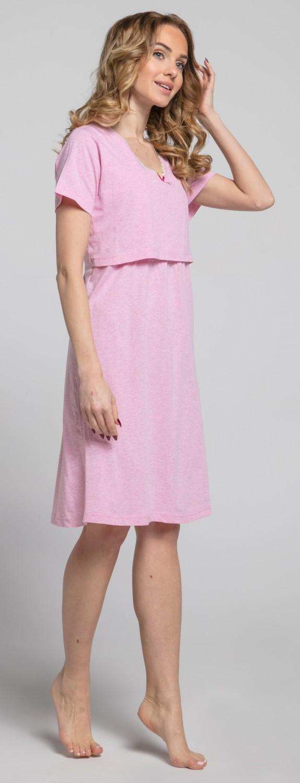 Zeta-Ville-Women-039-s-maternity-breastfeeding-stripes-set-robe-nightdress-190c thumbnail 21