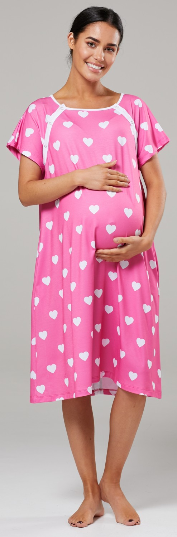 Zeta-Ville-Women-039-s-Maternity-Nursing-Delivery-Hospital-Gown-Nightshirt-536p thumbnail 72