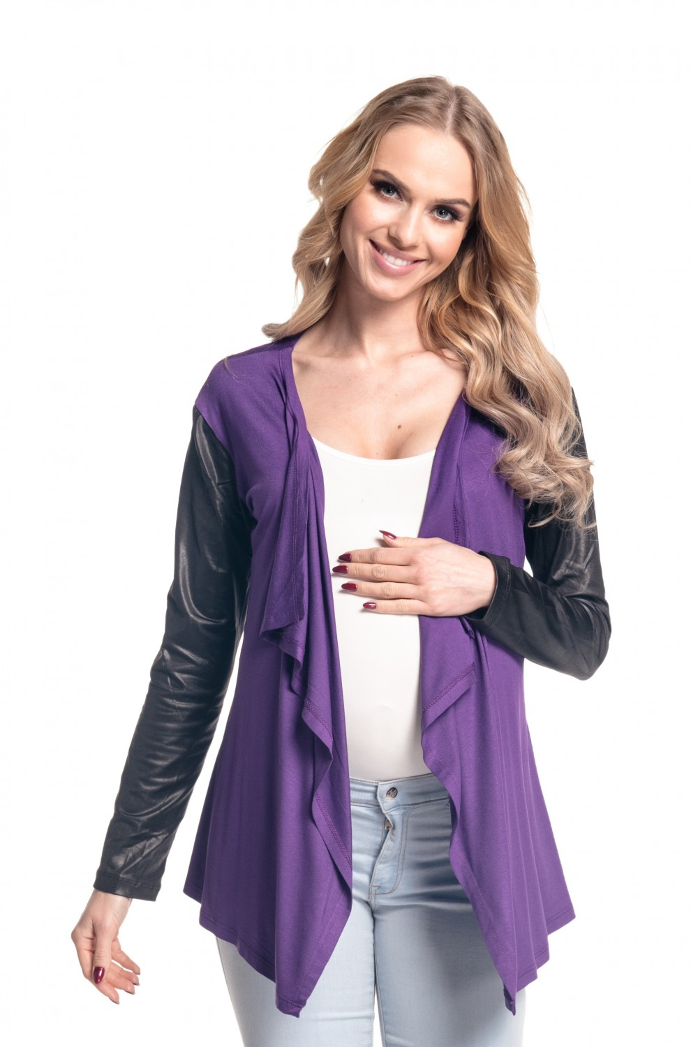 Happy Mama Women's Maternity Waterfall Cardigan Shrug Jacket ...