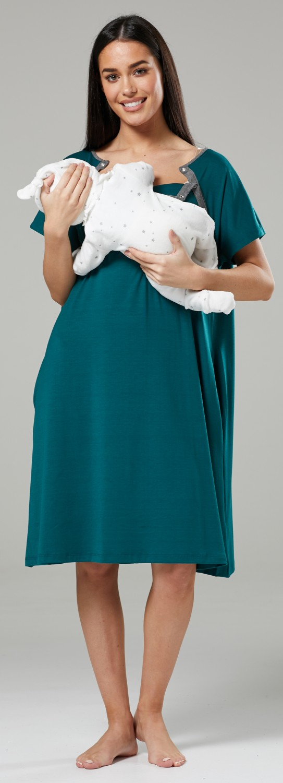 Zeta-Ville-Women-039-s-Maternity-Nursing-Delivery-Hospital-Gown-Nightshirt-536p thumbnail 20
