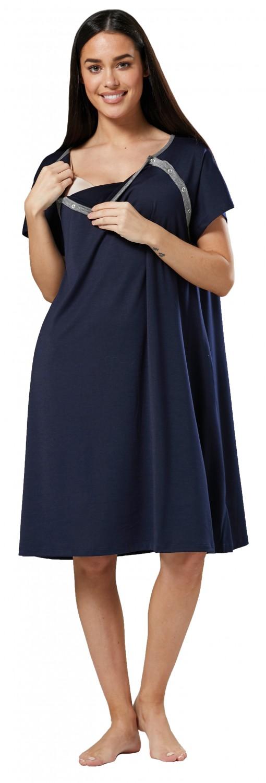 Zeta-Ville-Women-039-s-Maternity-Nursing-Delivery-Hospital-Gown-Nightshirt-536p thumbnail 11