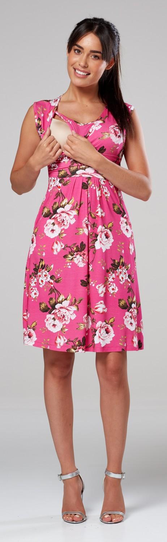 Zeta-Ville-Women-039-s-Maternity-Nursing-A-line-Dress-Pockets-Sleeveless-500c thumbnail 133